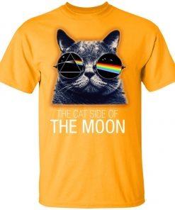 Pink Floyed Cat Side Of The Moon Youth Kid T-Shirt