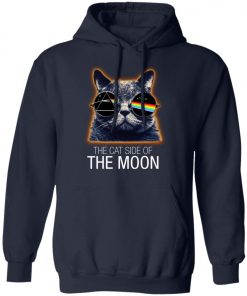 Pink Floyed Cat Side Of The Moon Pullover Hoodie