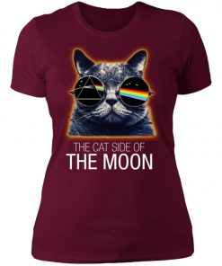 Pink Floyed Cat Side Of The Moon Women's T-Shirt