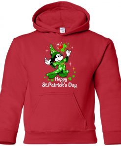 Disney Mickey Happy St Patrick's Day Premium Youth Hoodie