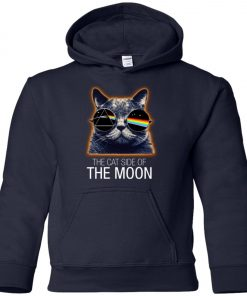 Pink Floyed Cat Side Of The Moon Premium Youth Hoodie