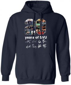 20 Years of Svu Law and Order All Signatures Pullover Hoodie
