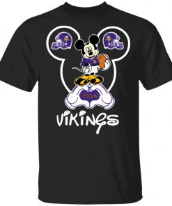 Minnesota Vikings Cute Mickey Mouse Unisex T-Shirt