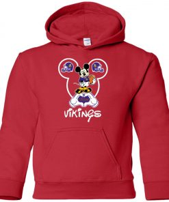 Minnesota Vikings Cute Mickey Mouse Premium Youth Hoodie