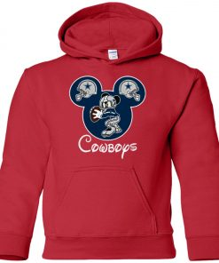 Mickey Mouse IS Cowboys Fans Premium Youth Hoodie