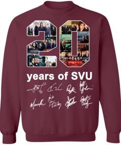 20 Years of Svu Law and Order All Signatures Sweatshirt