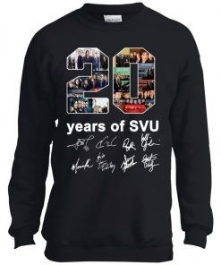 20 Years of Svu Law and Order All Signatures Youth Sweatshirt