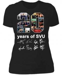 20 Years of Svu Law and Order All Signatures Women's T-Shirt