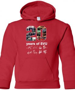 20 Years of Svu Law and Order All Signatures Premium Youth Hoodie