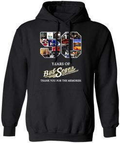 50 Years Of Bob Seger Thanks You For The Memories Pullover Hoodie