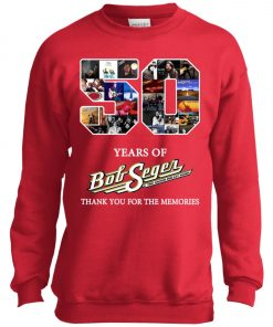 50 Years Of Bob Seger Thanks You For The Memories Youth Sweatshirt