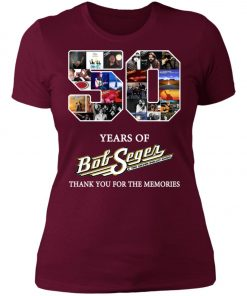 50 Years Of Bob Seger Thanks You For The Memories Women's T-Shirt