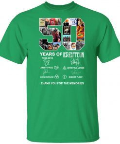 50 Years Of Led Zeppelin Signature Unisex T-Shirt