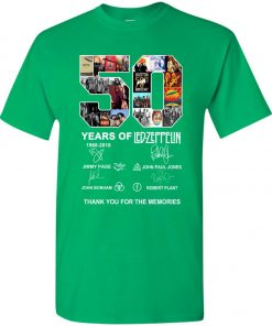 50 Years Of Led Zeppelin Signature Youth Kid T-Shirt