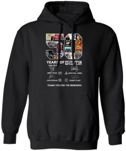 50 Years Of Led Zeppelin Signature Pullover Hoodie
