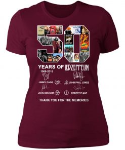 50 Years Of Led Zeppelin Signature Women's T-Shirt