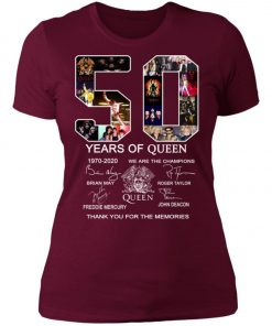 50 Years of Queen We Are The Champions Signature Women's T-Shirt