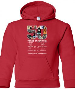 50 Years Of Led Zeppelin Signature Premium Youth Hoodie