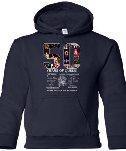 50 Years of Queen We Are The Champions Signature Premium Youth Hoodie