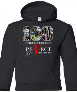 100 Roger Federer Perfect Simply The Best Premium Youth Hoodie