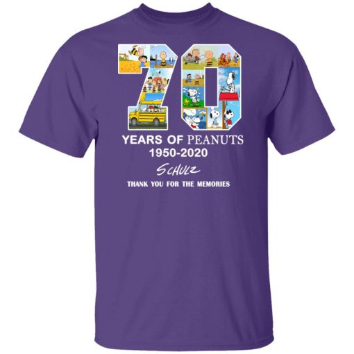 70 Years Of Peanuts 1950 2020 Schulz Unisex T-Shirt