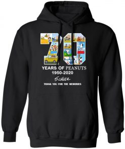 70 Years Of Peanuts 1950 2020 Schulz Pullover Hoodie
