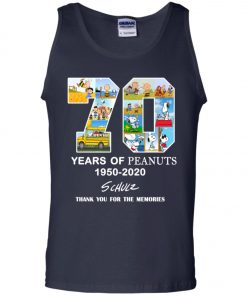 70 Years Of Peanuts 1950 2020 Schulz Tank Top