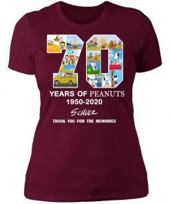 70 Years Of Peanuts 1950 2020 Schulz Women's T-Shirt