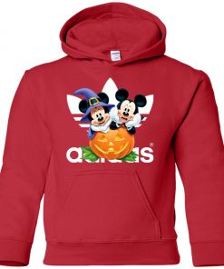 Adidas Mickey And Minnie Halloween Premium Youth Hoodie
