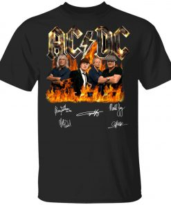 AC DC Signatures Youth Kid T-Shirt