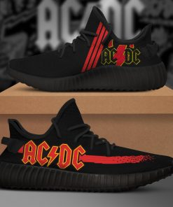 AC DC ROCK BAND LIMITED EDITION BLACK YEEZY SNEAKER RUNNING BOOTS