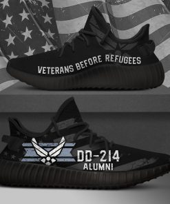 AIR FORCE VETERANS BEFORE REFUGEES LIMITED EDITION BLACK YEEZY SNEAKER