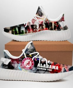 ALABAMA CRIMSON TIDE LIMITED EDITION WHITE YEEZY SNEAKER