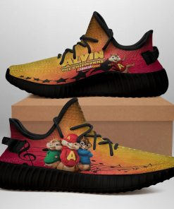 ALVIN AND THE CHIPMUNKS LIMITED EDITION BLACK YEEZY SNEAKER RUNNING BOOTS