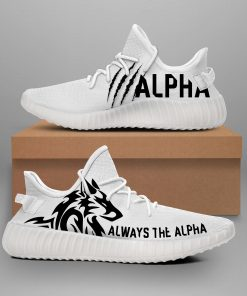 ALWAYS THE ALPHA LIMITED EDITION WHITE YEEZY SNEAKER RUNNING BOOTS