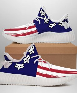 AMERICA FLAG FOX LIMITED EDITION WHITE YEEZY SNEAKER RUNNING BOOTS