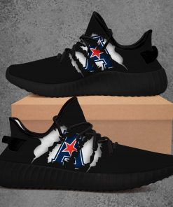 AMERICAN ATHLETIC CONFERENCE NCAA LIMITED EDITION BLACK YEEZY SNEAKER RUNNING BOOTS