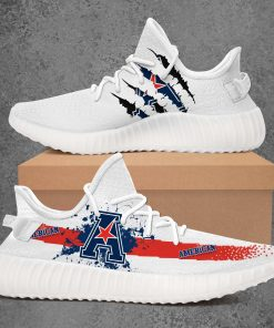 AMERICAN ATHLETIC CONFERENCE NCAA LIMITED EDITION WHITE YEEZY SNEAKER RUNNING BOOTS