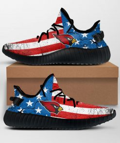 ARIZONA CARDINALS NFL AMERICAN FLAG LIMITED EDITION BLACK YEEZY SNEAKER RUNNING BOOTS