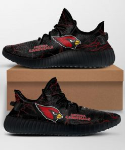 ARIZONA CARDINALS NFL LIMITED EDITION BLACK YEEZY SNEAKER RUNNING BOOTS VER 2