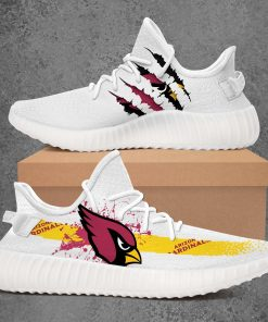 ARIZONA CARDINALS NFL LIMITED EDITION WHITE YEEZY SNEAKER RUNNING BOOTS VER 2