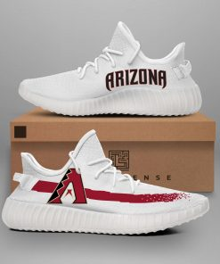 ARIZONA DIAMONDBACKS MLB LIMITED EDITION WHITE YEEZY SNEAKER RUNNING BOOTS