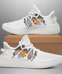 ARIZONA STATE SUN DEVILS LIMITED EDITION WHITE YEEZY SNEAKER RUNNING BOOTS