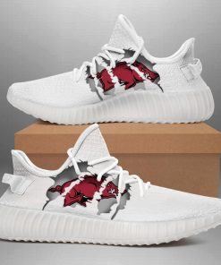 ARKANSAS RAZORBACKS LIMITED EDITION WHITE YEEZY SNEAKER RUNNING BOOTS