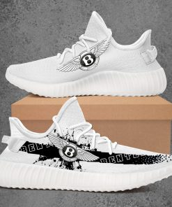 BENTLEY CAR LIMITED EDITION WHITE YEEZY SNEAKER RUNNING BOOTS VER 2