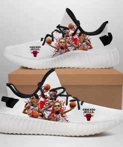 BIG 3 EVER CHICAGO BULLS LIMITED EDITION WHITE YEEZY SNEAKER RUNNING BOOTS