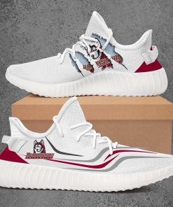 BLOOMSBURG HUSKIES NCAA LIMITED EDITION WHITE YEEZY SNEAKER RUNNING BOOTS VER 1