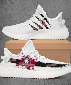 BLOOMSBURG HUSKIES NCAA LIMITED EDITION WHITE YEEZY SNEAKER RUNNING BOOTS VER 2
