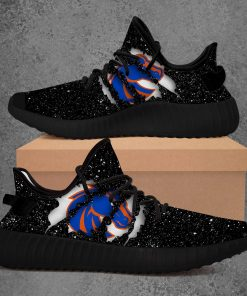 BOISE STATE BRONCOS NCAA LIMITED EDITION BLACK YEEZY SNEAKER RUNNING BOOTS