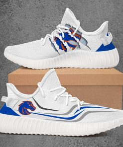BOISE STATE BRONCOS NCAA LIMITED EDITION WHITE YEEZY SNEAKER RUNNING BOOTS